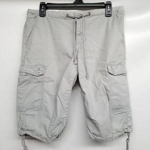 Prana Grey Breathe Cargo Shorts
